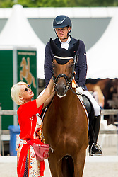 Rath Matthias Alexander, GER, Destacado FRH<br /> Ermelo - Weltmeisterschaft Junge Dressurpferde 2019<br /> Finale für 6 jährige Dressurpferde<br /> Final for 6 years dressage horses<br /> 04. August 2019<br /> © www.sportfotos-lafrentz.de/Dirk Caremans