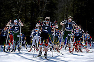 09 MAR 2013: Miles Havlick (2) of the University of Utah leads the mens field during the Nordic Freestyle competition at the 2013 NCAA Men and Women's Division I Skiing Championship held at Rikert Nordic Center in Middlebury, VT. Havlick placed first to win the national title. Brett Wilhelm