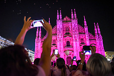 Milan: Breast Cancer Awareness campaign, 26 September 2016
