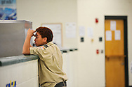 Boy Scout Troop 772 meets after school at Dan McCarty Middle School in Fort Pierce on Feb. 12, 2014. (XAVIER MASCAREÑAS/TREASURE COAST NEWSPAPERS)