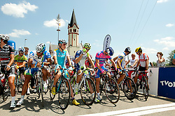 Jani Brajkovic of Astana, Kristjan Koren of Liquias, Bole Grega of Lampre-ISD during Slovenian National Championship Mirna Pec 2012, on June 24, 2012, in Mirna Pec, Slovenia. (Photo by Urban Urbanc / Sportida.com)