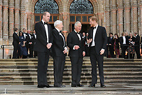 Prince William Duke of Cambridge, Sir David Attenborough, Charles Prince of Wales, Prince Harry Duke of Sussex, Our Planet - Global premiere, Natural History Museum, London, UK, 04 April 2019, Photo by Richard Goldschmidt