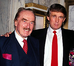 September 23, 2016- (File Photo) - Donald Trump brags he started his real estate empire with just a  million loan from his father, however, media reports suggest the loan was the first of many other loans. PICTURED: 1992 - FRED TRUMP and  DONALD TRUMP.  (Credit Image: © Judie Burstein/ZUMA Wire)