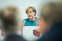 24 APR 2017, BERLIN/GERMANY:<br /> Angela Merkel, CDU, Bundeskanzlerin, 9. Energiepolitischer Dialog der CDU/CSU-Fraktion im Deutschen Bundestag &quot;Spannungsfeld Energiewende - Die Energiewende wirtschaftlich gestalten&quot;, Fraktionssitzungssaal, Deutscher Bundestag<br /> IMAGE: 20170424-01-146