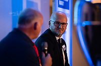 Football - 2019 / 2020 Gallagher Premiership Rugby - New Season Launch Media Photocall<br /> <br /> Darren Childs Premiership Rugby's CEO listening to Declan Kidney during an open media session, at Twickenham.<br /> <br /> COLORSPORT/ASHLEY WESTERN