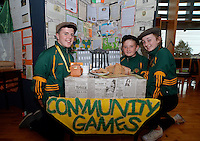 20 Aug 2016: U16 Mixed Project team from Kerry l-r; Cian Lenihan, 14, Jake O'Reilly, 12, and his sister Zara O'Reilly, 13.   2016 Community Games National Festival 2016.  Athlone Institute of Technology, Athlone, Co. Westmeath. Picture: Caroline Quinn