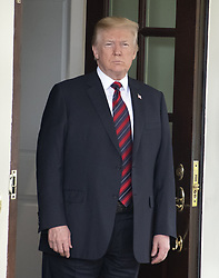 United States President Donald J. Trump looks towards the assembled press as he prepares to welcome President Moon Jae-in of South Korea for talks at the White House in Washington, DC, USA on Tuesday, May 22, 2018. The two leaders are meeting ahead of President Trump's scheduled summit with Kim Jung-un of North Korea which is tentatively scheduled for June 12, 2018 in Singapore. Photo by Ron Sachs/CNP/ABACAPRESS.COM