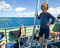 The outer limits of the world largest reef system, the Great Barrier Reef, can be reached for snorkeling and scuba diving by just an hour's boat ride from Cairns, tropical North Queensland, Australia