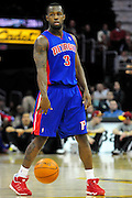 Feb. 9, 2011; Cleveland, OH, USA; Detroit Pistons point guard Rodney Stuckey (3) during the fourth quarter against the Cleveland Cavaliers at Quicken Loans Arena. The Pistons beat the Cavaliers 103-94 for Cleveland's 26th loss in a row. Mandatory Credit: Jason Miller-US PRESSWIRE