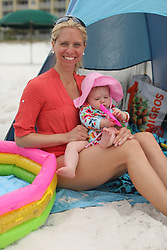 Family trip to Florida and first citing of the ocean by Little Princess Gemma at 8 months old, Friday, April 27, 2018  at Water's Edge Condos in Fort Walton Beach.