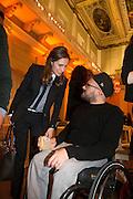 LOUISE HAYWARD; RYAN GANDER, Lisson Gallery dinner, Banqueting House. London. 15 October 2013