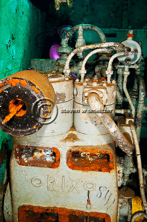 Exploring the Motor Room, USS Kittiwake, Grand Cayman