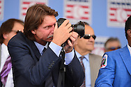COOPERSTOWN, NY - JULY 26: Hall of Fame inductee Randy Johnson takes photos during the Induction Ceremony at National Baseball of Hall of Fame on July 26, 2015 in Cooperstown, New York. (Photo by Jennifer Stewart/Arizona Diamondbacks/Getty Images)