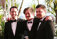Simón Mesa Soto (center) winner of the Palme d'Or short film for Leidi at the Palme d'Or winners photo call at the 67th Cannes Film Festival, Saturday 24th May 2014, Cannes, France.