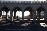France. Paris, 12th district. Bercy bridge on the seine river / le pont de Bercy