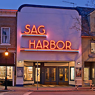 New York, Long Island, Sag Harbor, Sag Harbor Theater, Dusk