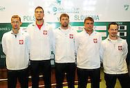 Wroclaw 31/01/2013.Davis Cup .Poland vs Slovenia.Draw ceremony.Polish team.Photo by : Piotr Hawalej