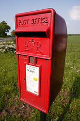 Postbox in rural setting,