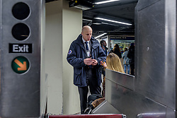 April 13, 2018 - New York, New York, United States - NYCT President Andy Byford - Activists from the Elevator Action Group with Rise and Resist took a subway ride with NYCT President Andy Byford on April 13, 2018. The trip illuminated some of the problems with signage, separate fare payment systems, boarding areas, and many other accessibility issues. Byford plans to incorporate accessibility priorities in a comprehensive corporate plan expected to be released in May. (Credit Image: © Erik Mcgregor/Pacific Press via ZUMA Wire)
