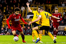 Mohamed Salah of Liverpool takes on Conor Coady of Wolverhampton Wanderers - Mandatory by-line: Robbie Stephenson/JMP - 07/01/2019 - FOOTBALL - Molineux - Wolverhampton, England - Wolverhampton Wanderers v Liverpool - Emirates FA Cup third round proper