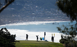 January 27, 2017 - San Diego, Calif, USA - Tiger Woods tees off on the 7th hole during the second day of the Farmers Insurance Open golf tournament at Torrey Pines in San Diego, Calif. on Friday, January 27, 2017. (Photo by Kevin Sullivan, Orange County Register/SCNG) (Credit Image: © Kevin Sullivan/The Orange County Register via ZUMA Wire)