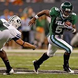 Sep 12, 2009; New Orleans, LA, USA;  Tulane Green Wave wide receiver D.J. Banks (5) runs against the BYU Cougars during the first half at the Louisiana Superdome.  BYU defeated Tulane 54-3. Mandatory Credit: Derick E. Hingle-US PRESSWIRE