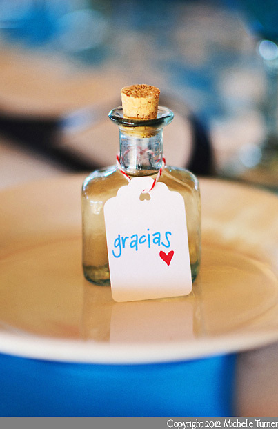 Tequila Favors: Courtney and Storm's Sayulita Wedding at Don Pedro's Palapa.   Image by Sayulita wedding photographer Michelle Turner.