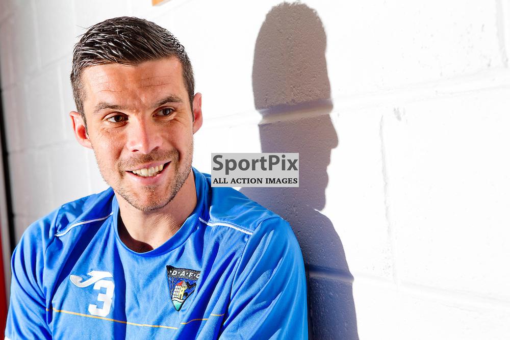 DAFC Presser East End Park 20 August 2015<br /> Jason Talbot previews saturdays trip to Peterhead<br /> (c) CRAIG BROWN | SportPix.org.uk