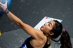 Miho Nonaka of Japan during Women's bouldering semifinal at the IFSC Climbing World Championships Innsbruck 2018, on September 14, 2018 in OlympiaWorld Innsbruck, Austria, Slovenia. Photo by Urban Urbanc / Sportida
