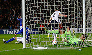 Picture by David Horn/Focus Images Ltd +44 7545 970036<br /> 14/11/2013<br /> Michael Keane of England Under 21 (centre)  scores his team's first goal during the European U21 Championship match at stadium:mk, Milton Keynes.