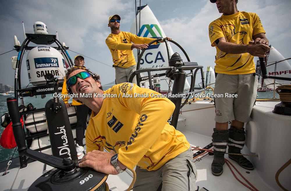 February, 2015. Leg 4 Start  to Auckland onboard Abu Dhabi Ocean Racing. Day 01.