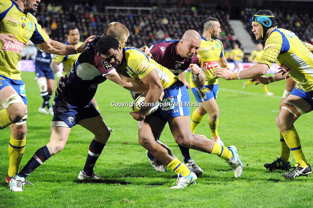Naipolioni Nalaga  - 13.03.2015 - Clermont / Begles Bordeaux  -  20eme journee de Top 14<br /> Photo : Jean Paul Thomas  / Icon Sport<br /> <br />   *** Local Caption ***