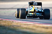 Vitaly Petrov (RUS) drives the Caterham F1 Team CT01: Formula One Testing, Circuit de Catalunya, Barcelona, Spain, World Copyright: Jamey Price