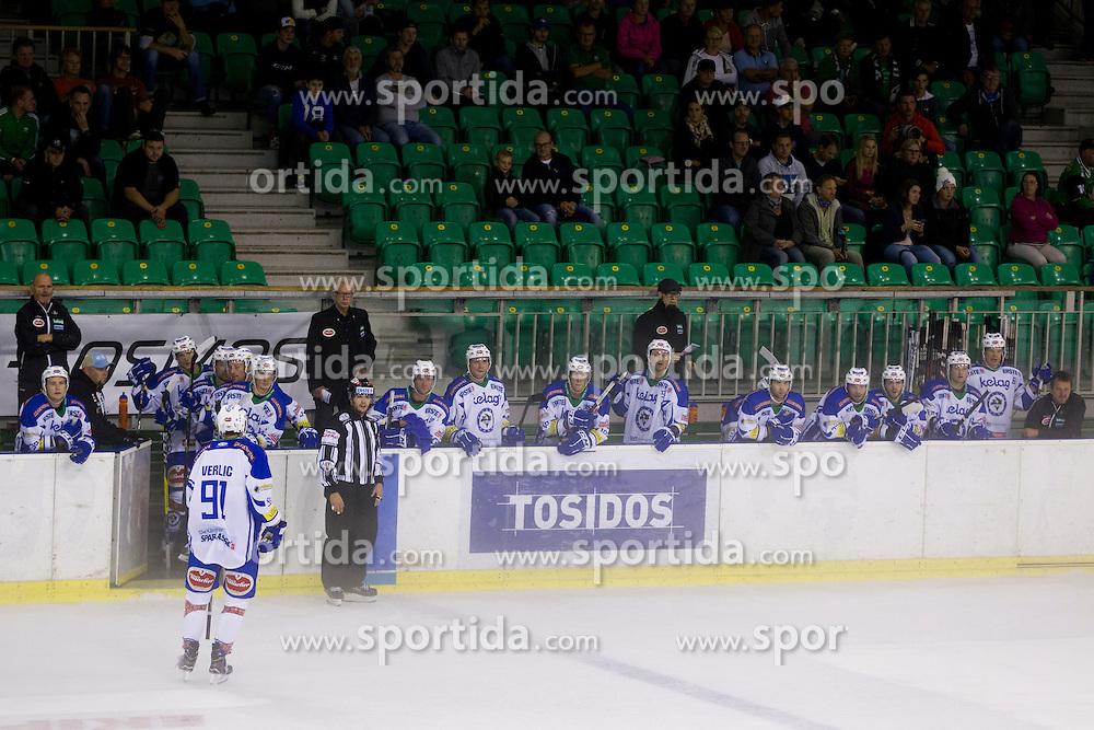 Players of EC VSV during the Erste Bank Icehockey League 1st Round between HDD Olimpija Ljubljana and EC VSV, on September 16, 2016, in Hala Tivoli, Ljubljana, Slovenia. Photo by Urban Urbanc / Sportida