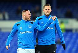 Gylfi Sigurdsson of Everton and Wayne Rooney of Everton - Mandatory by-line: Robbie Stephenson/JMP - 31/01/2018 - FOOTBALL - Goodison Park - Liverpool, England - Everton v Leicester City - Premier League