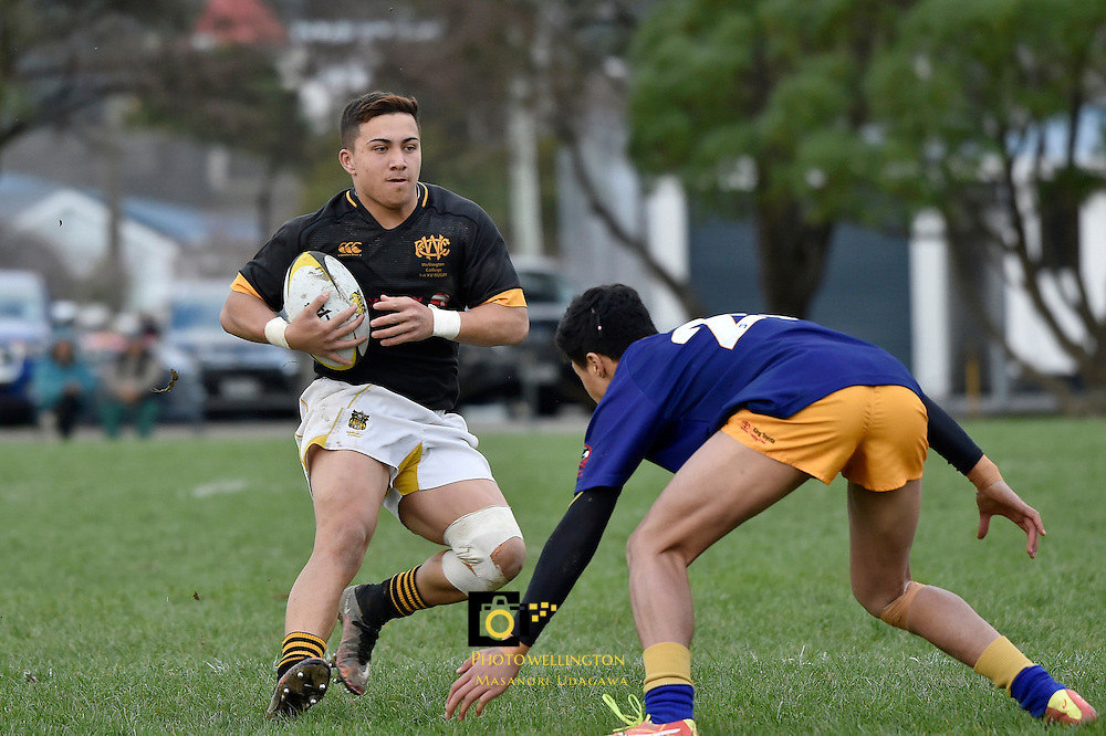 College Rugby - St Bernard's College v Wellington College at St Bernard's College on Saturday 9 July 2016.<br /> Photo by Masanori Udagawa. <br /> www.photowellington.photoshelter.com.