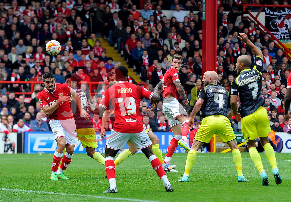 Bristol City's Aden Flint scores  - Photo mandatory by-line: Joe Meredith/JMP - Mobile: 07966 386802 - 03/05/2015 - SPORT - Football - Bristol - Ashton Gate - Bristol City v Walsall - Sky Bet League One
