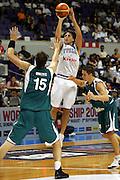 SAPPORO 20 AGOSTO 2006 <br /> BASKET CAMPIONATO MONDIALE 2006 <br /> ITALIA-SLOVENIA <br /> NELLA FOTO: MORDENTE <br /> FOTO: CIAMILLO-LAPRESSE