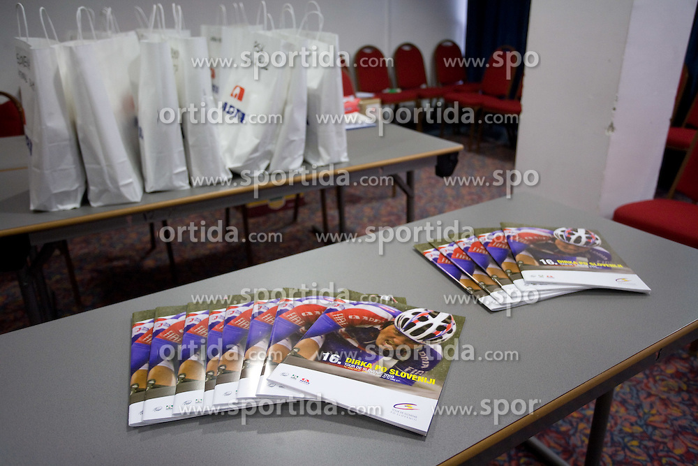 Brochures at day before start of Tour de Slovenie 2009, on June 17 2009, in Koper, Slovenia. (Photo by Vid Ponikvar / Sportida)