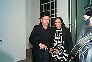 SERENA REES; PAUL SIMONON, Marc Quinn exhibition opening. Allanah, Buck, Catman, Michael, Pamela and Thomas. White Cube Hoxton Sq. London. 6 May 2010.  *** Local Caption *** -DO NOT ARCHIVE-© Copyright Photograph by Dafydd Jones. 248 Clapham Rd. London SW9 0PZ. Tel 0207 820 0771. www.dafjones.com.<br /> SERENA REES; PAUL SIMONON, Marc Quinn exhibition opening. Allanah, Buck, Catman, Michael, Pamela and Thomas. White Cube Hoxton Sq. London. 6 May 2010.