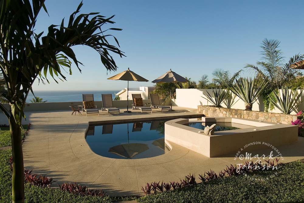 Swimming pool in backyard, San Jose del Cabo, Baja California Sur, Mexico