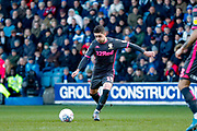 Leeds United midfielder Pablo Hernandez (19) free kick goes over during the EFL Sky Bet Championship match between Queens Park Rangers and Leeds United at the Kiyan Prince Foundation Stadium, London, England on 18 January 2020.