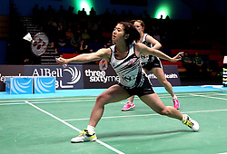 Mizuki Fuji of Bristol Jets plays a drop shot - Photo mandatory by-line: Robbie Stephenson/JMP - 07/11/2016 - BADMINTON - University of Derby - Derby, England - Team Derby v Bristol Jets - AJ Bell National Badminton League