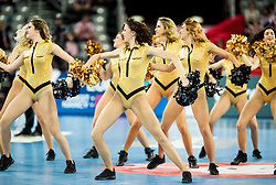 Cheerleaders perform during handball match between National teams of Sweden and Norway on Day 7 in Main Round of Men's EHF EURO 2018, on January 24, 2018 in Arena Zagreb, Zagreb, Croatia.  Photo by Vid Ponikvar / Sportida