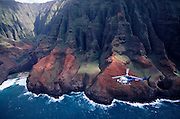 Helicopter, Napali Coast, Kauai, Hawaii, USA<br />