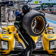 Teams and drivers take part in the 2018 24 Hours of Le Mans Test Day at the Circuit de la Sarthe in France.