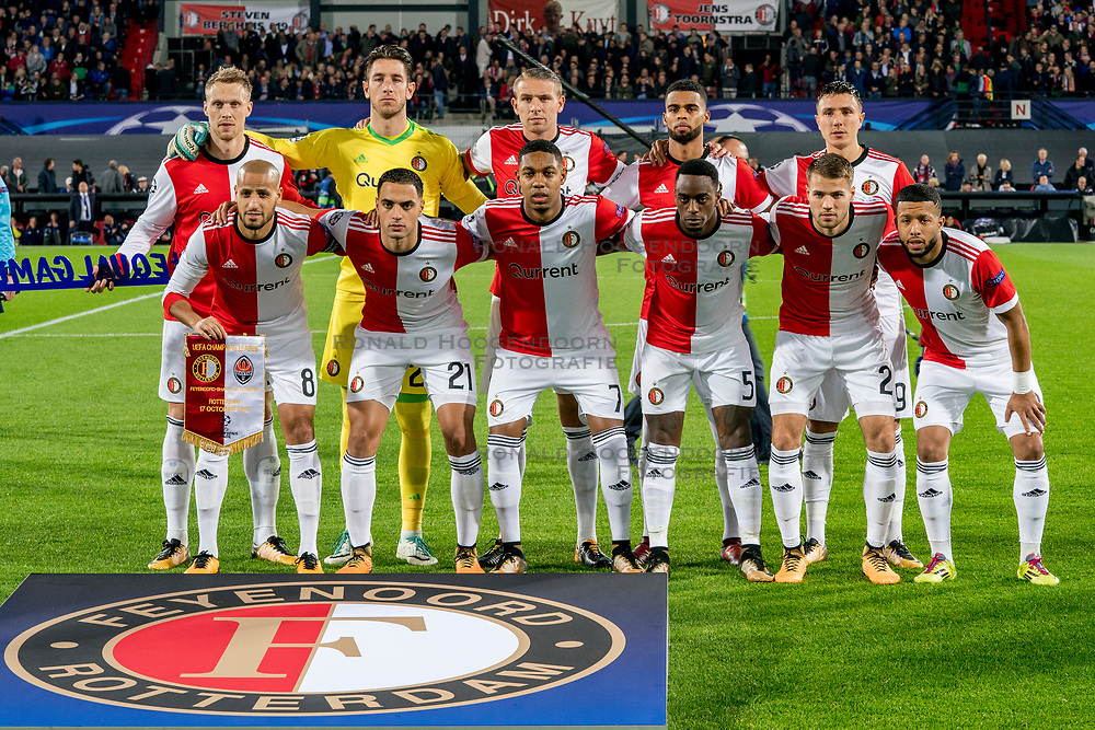 17-10-2017 NED, UEFA CL, Feyenoord - FC Shakhtar Donetsk, Rotterdam<br /> UEFA Champions League Round of 16, 3rd Leg match between Feyenoord vs. Donetsk at the stadion DE Kuip in Rotterdam / Teamfoto Feyenoord