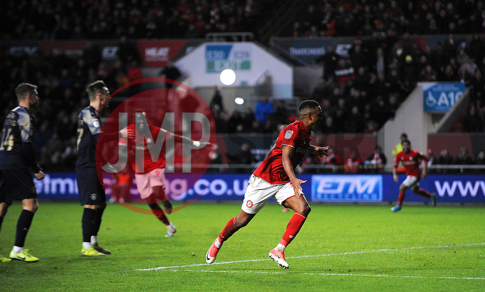 Niclas Eliasson of Bristol City celebrates his goal 1-0-Mandatory by-line: Nizaam Jones/JMP - 18/01/2020 - FOOTBALL - Ashton Gate - Bristol, England - Bristol City v Barnsley - Sky Bet Championship