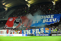 Supporters de Lyon - 19.04.2015 - Lyon / Saint Etienne - 33eme journee de Ligue 1<br /> Photo : Jean Paul Thomas / Icon Sport