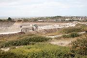 Working stone quarry, Easton, Isle of Portland, Dorset, England, UK